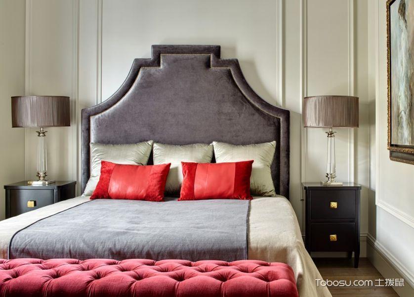 卧室黑色床头柜美式风格装饰图片