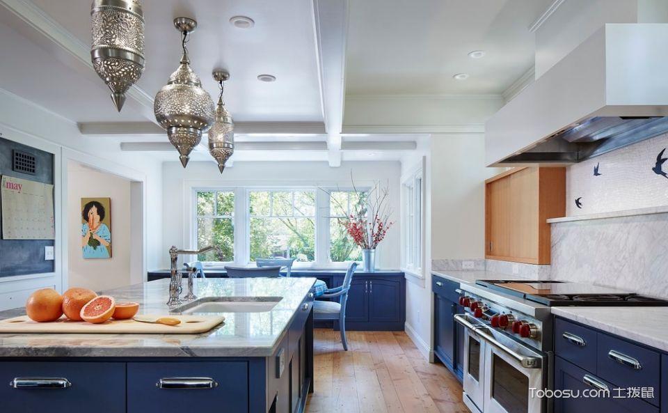 厨房灰色橱柜混搭风格装潢效果图