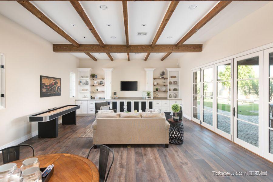 客厅白色地中海风格装潢设计图片