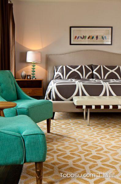 卧室绿色沙发混搭风格装修图片