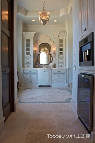 浴室米色地砖地中海风格装潢效果图