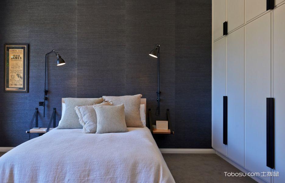 卧室黑色背景墙混搭风格装饰设计图片