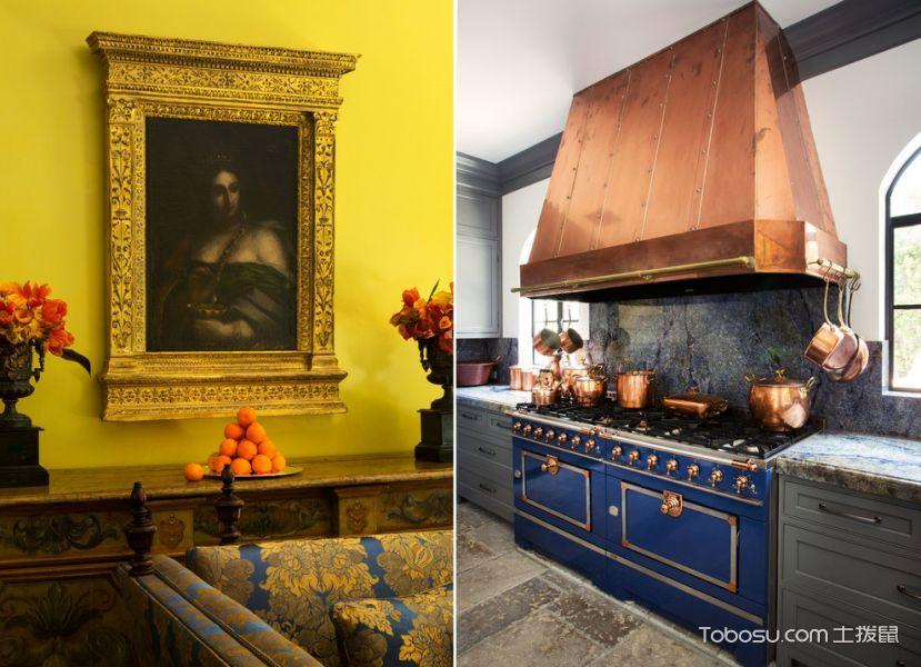 厨房灰色橱柜地中海风格装潢图片