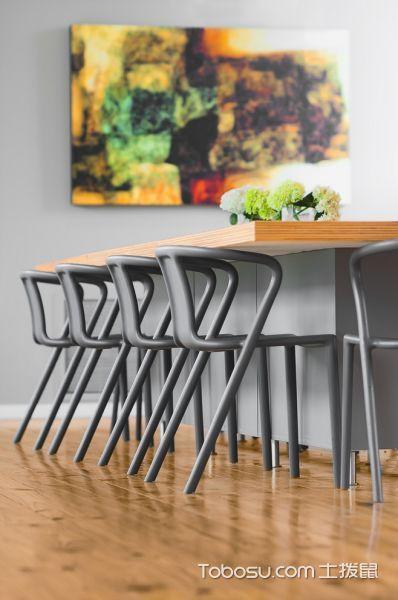 餐厅咖啡色地板砖现代风格效果图