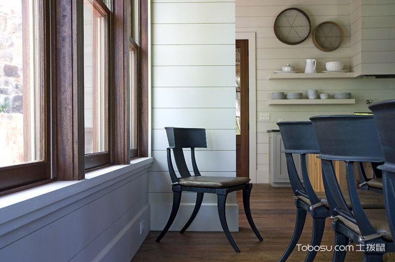 餐厅咖啡色地板砖混搭风格装修设计图片