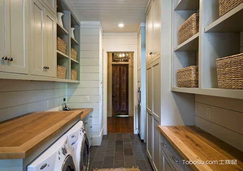 卫生间灰色地砖混搭风格装饰设计图片