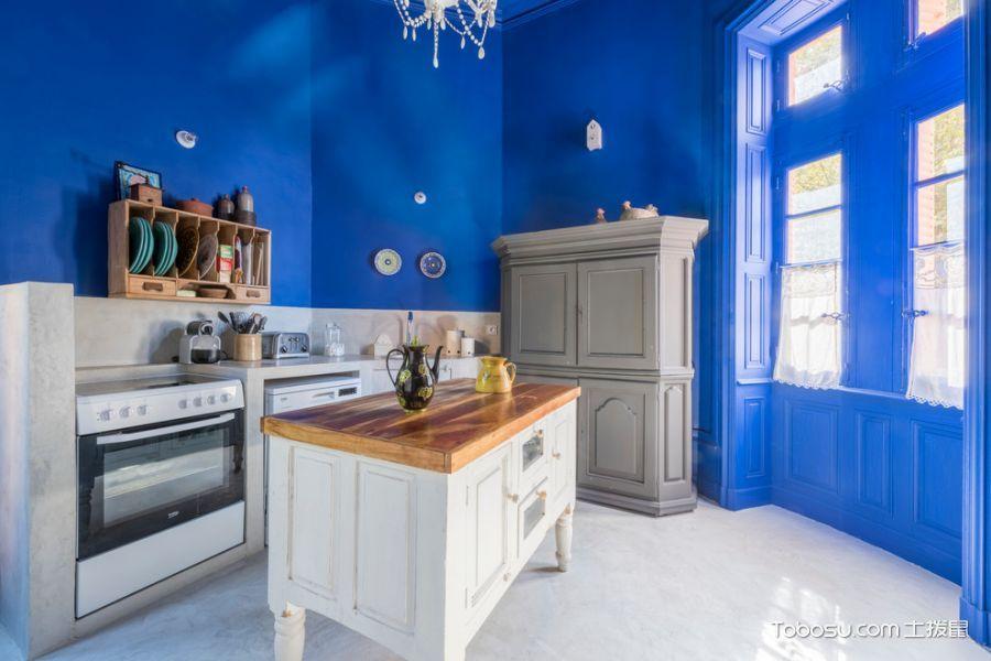 厨房灰色橱柜地中海风格装修图片