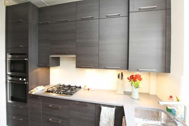 厨房灰色橱柜现代风格效果图