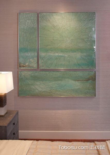 卧室紫色背景墙混搭风格装潢效果图