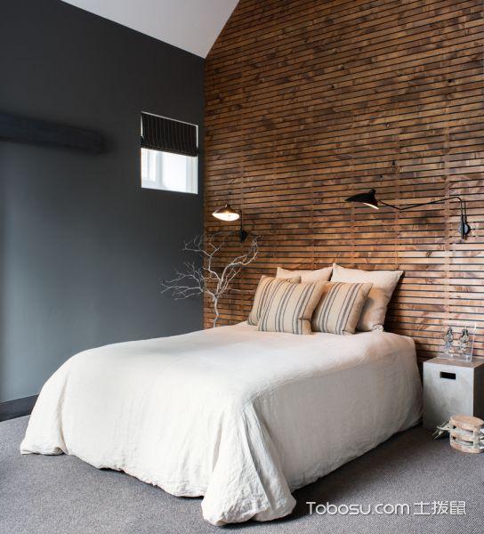 卧室咖啡色背景墙混搭风格装潢设计图片