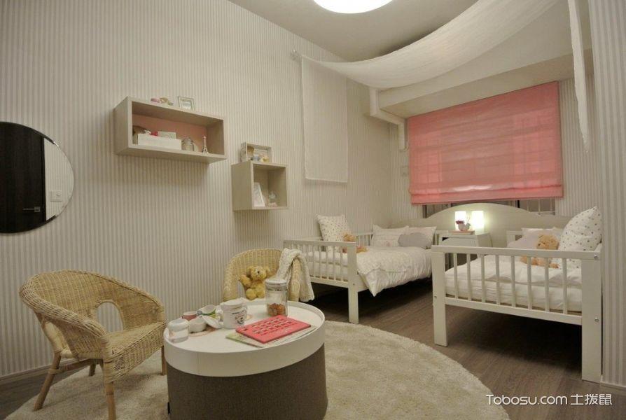 卧室粉色窗帘现代风格装修设计图片