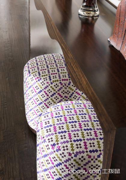 客厅咖啡色地板砖混搭风格装修效果图