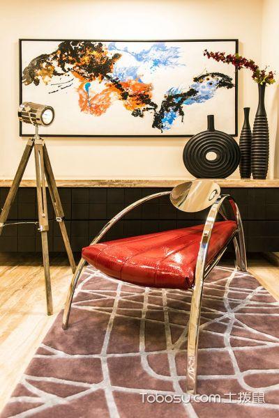 客厅咖啡色地板砖现代风格装饰效果图