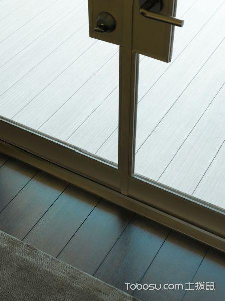 客厅咖啡色地板砖现代风格装饰图片