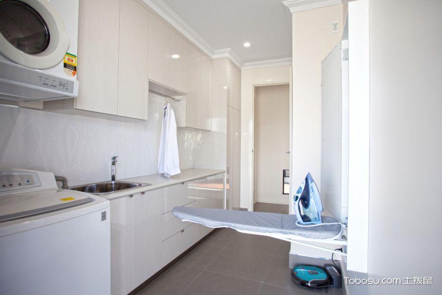 卫生间灰色地砖现代风格装修图片