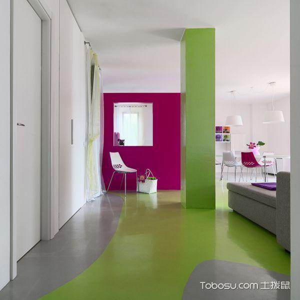 客厅绿色地砖现代风格装修效果图