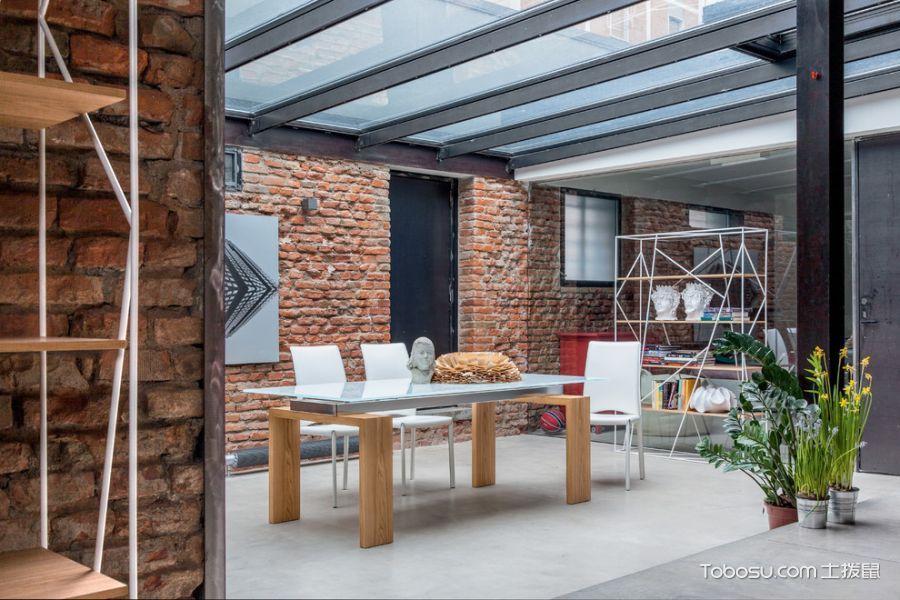 餐厅灰色地砖现代风格装饰设计图片