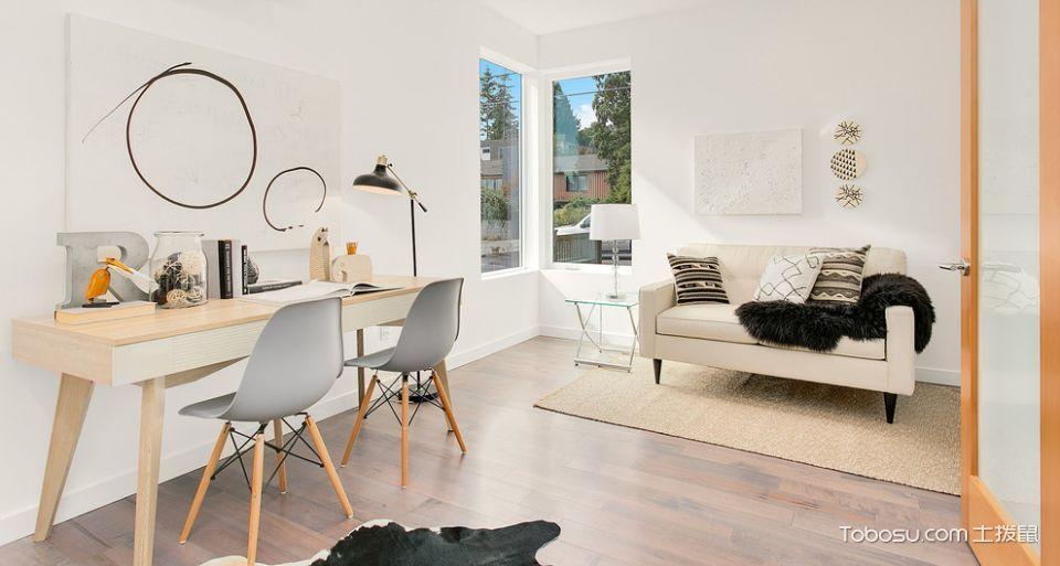 书房咖啡色地板砖现代风格装饰效果图