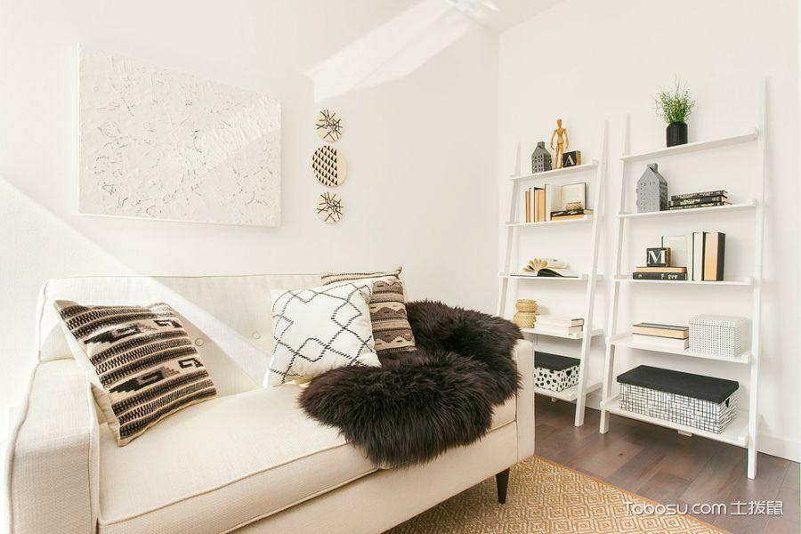 书房咖啡色地板砖现代风格装修图片