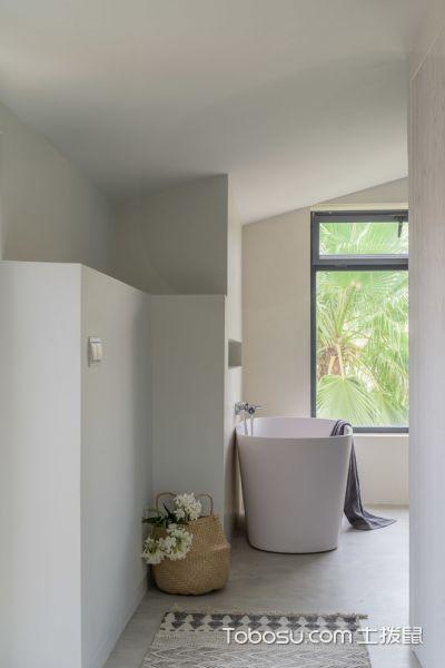 浴室白色浴缸地中海风格装修图片