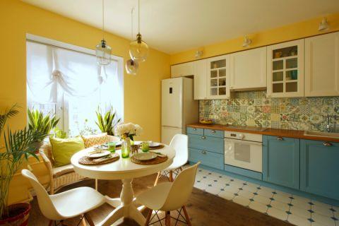 美式风格三居室100平米装修案例