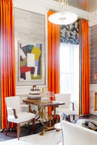 客厅窗帘混搭风格效果图