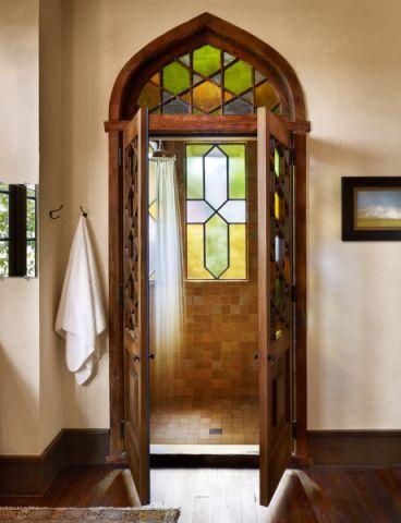 浴室背景墙地中海风格装饰图片
