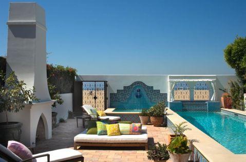 阳台沙发地中海风格装饰图片