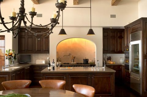 厨房厨房岛台地中海风格装修设计图片
