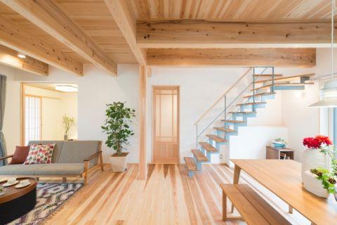 客厅楼梯北欧风格装饰图片