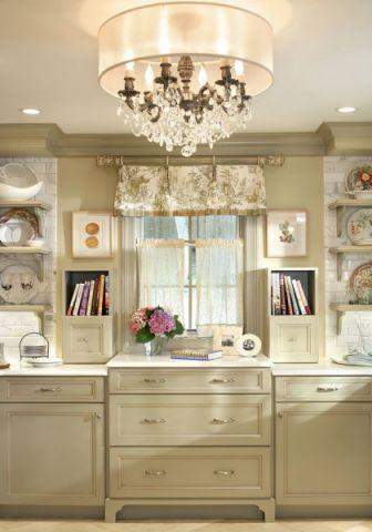 美式厨房窗帘构造图