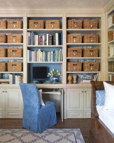 书房书架地中海风格装潢图片