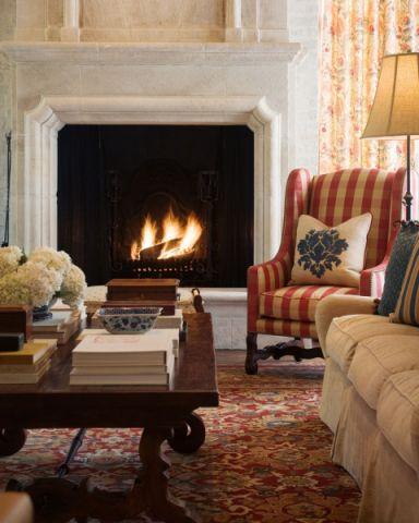 客厅茶几地中海风格装饰图片