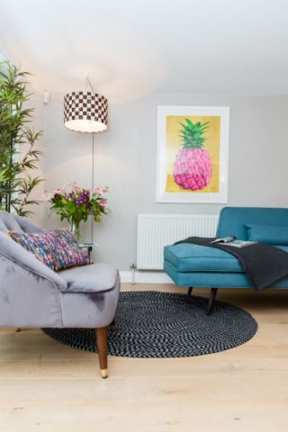 客厅地板砖混搭风格装修设计图片
