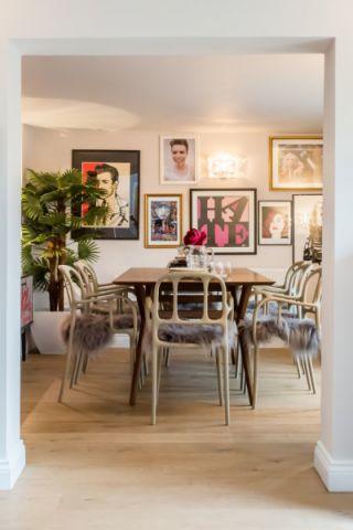 餐厅照片墙混搭风格装饰设计图片
