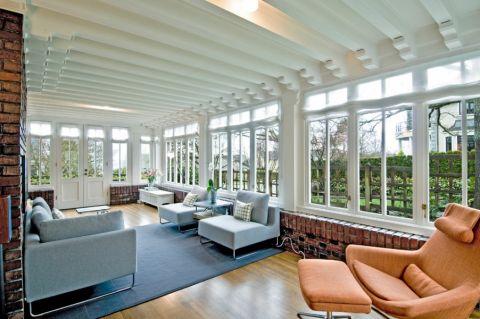阳光房吊顶现代风格装潢设计图片