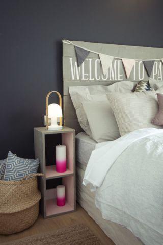 卧室床头柜北欧风格装潢效果图