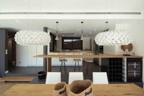 餐厅隔断北欧风格装潢设计图片