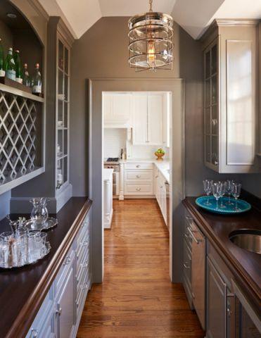 厨房走廊美式风格装修效果图