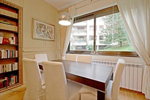 餐厅窗帘现代风格装修图片