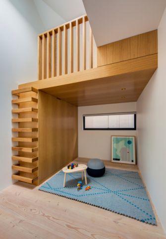 儿童房地板砖现代风格装潢设计图片