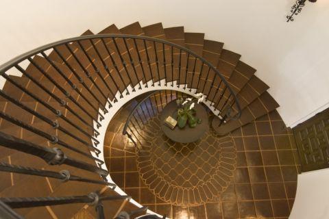 玄关楼梯地中海风格装饰图片