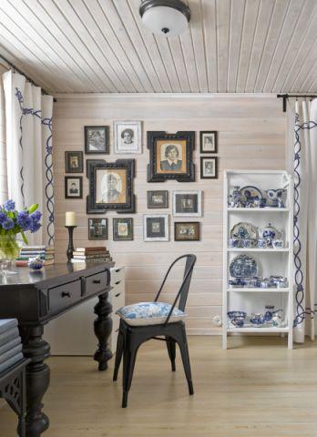 书房照片墙混搭风格装饰设计图片