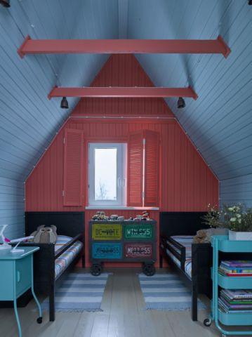 儿童房吊顶混搭风格装饰图片