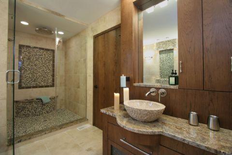 浴室隔断现代风格装饰效果图