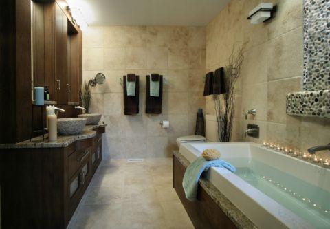 浴室浴缸现代风格装修图片