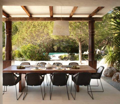 餐厅餐桌地中海风格装潢设计图片