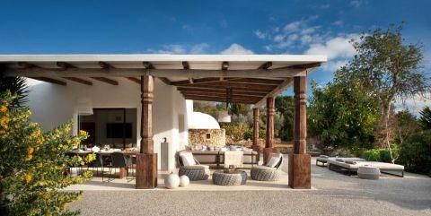 阳台沙发地中海风格效果图