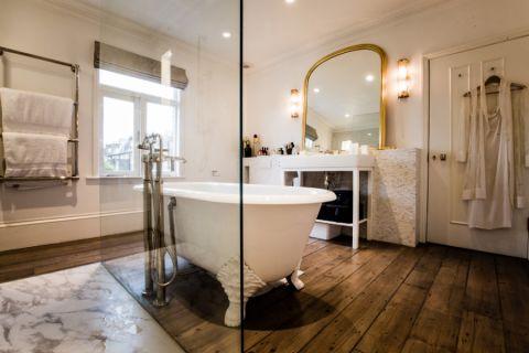 浴室浴缸混搭风格装饰图片