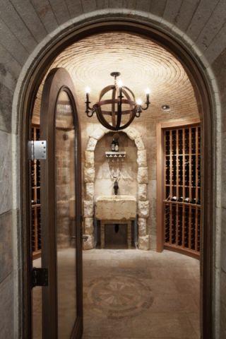 酒窖隔断地中海风格装饰图片